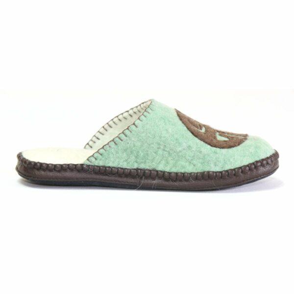 Right Side of Green Slipper