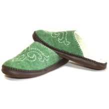 Green Felt Slippers M1