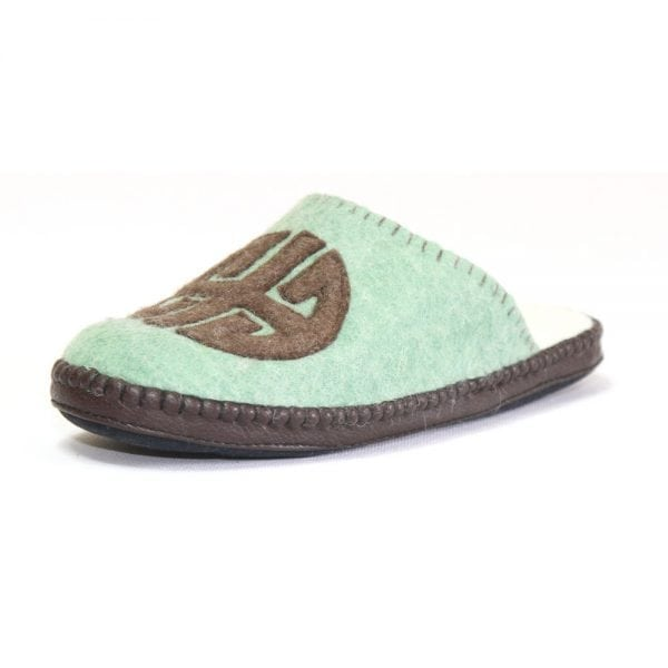 Left Side of Green Slipper