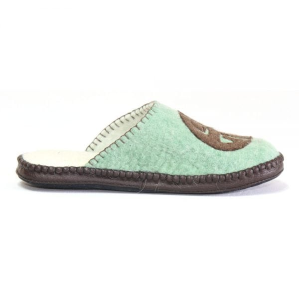 Right Side of Green Slipper