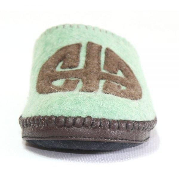 Front of Green Slipper