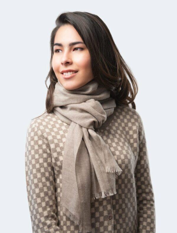 Grey Fashion Scarf