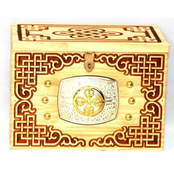 Mongolian wooden Chest