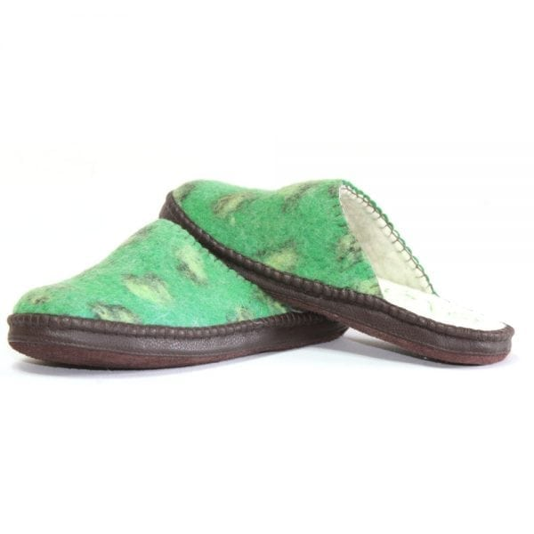 Left Side of Green Slippers