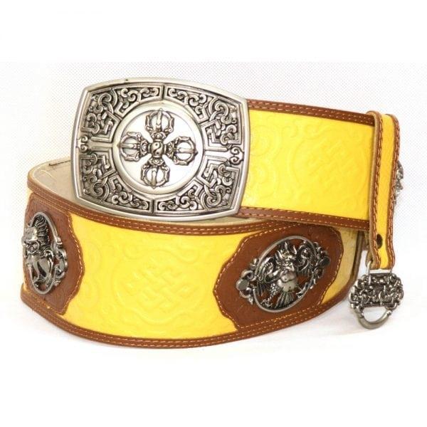 Yellow Leathern Belt for Deel