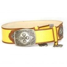 Yellow Leathern Belt