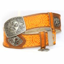 Orange Leathern Belt