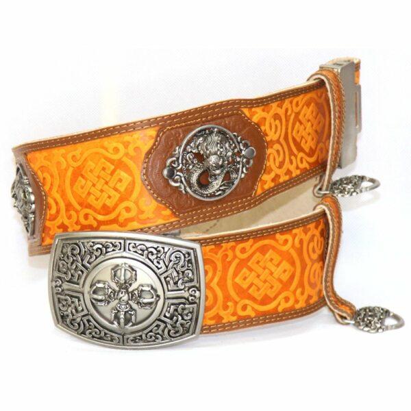 Orange Leathern Belt for Deel