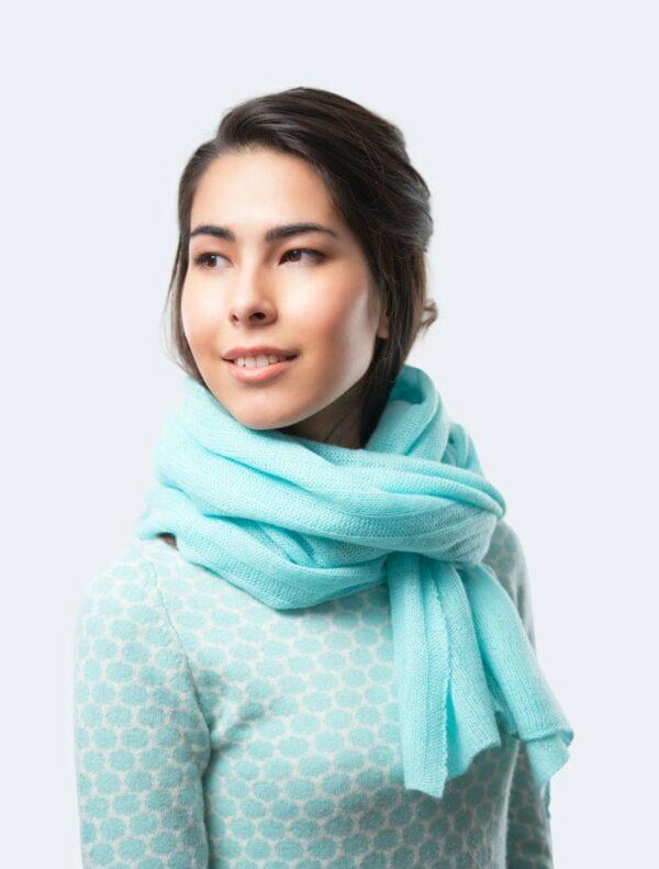 Water Blue Fashion Shawl