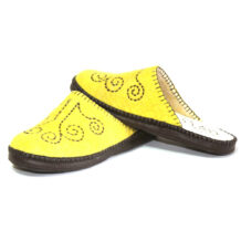 Yellow Felt Slippers