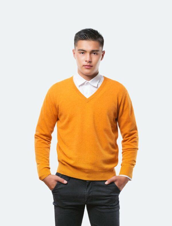 Orange V-Neck