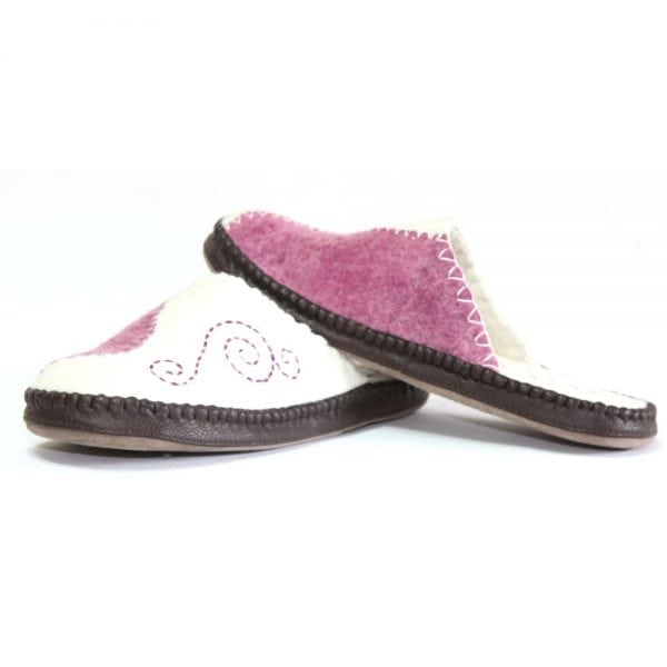 Left Side of Pink Slippers