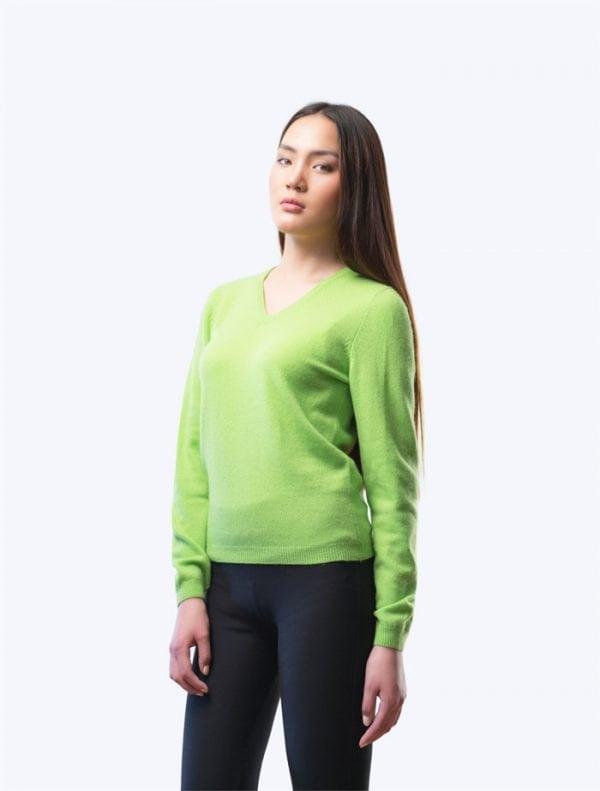 Green V-Neck