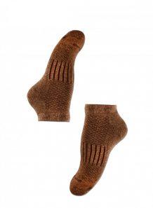 Brown Camel Woolen Male Socks