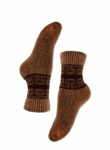 Brown Yak Woolen Male Socks