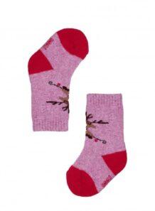 Pink Woolen Children's Socks
