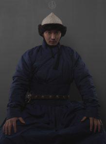 Mongolian Hunnu Deel with Hat