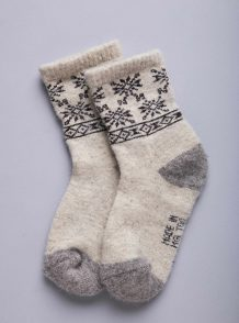White Camel Woolen Children's Socks