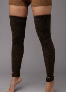 Dark Brown Camel Woolen Gaiters