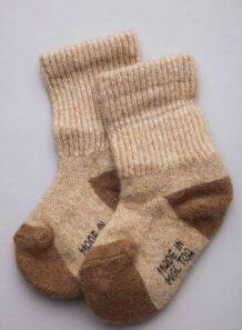 Beige Camel Woolen Socks