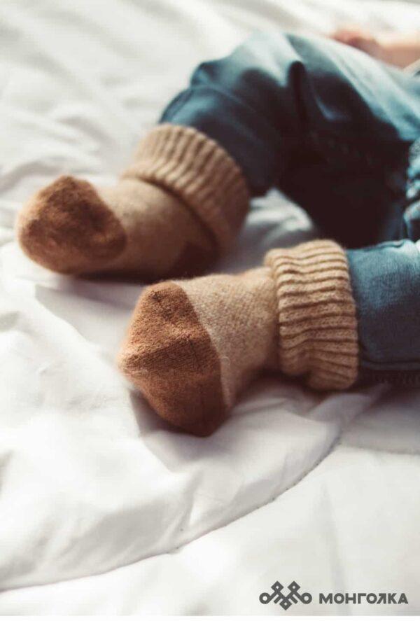 Children's Beige Socks
