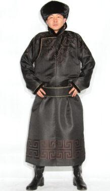 Black Men's Deel with Sable Fur
