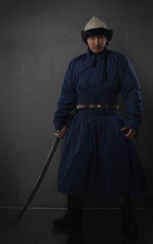 Blue Hunnu Deel with Sword