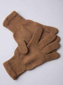 Brown Camel Woolen Adult's Gloves