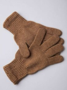 Brown Camel Woolen Adult's Gloves