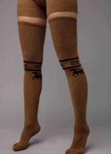 Brown Camel Woolen Stocking