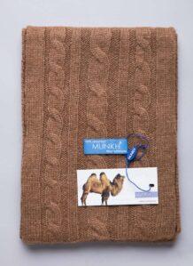 Brown Camel Woolen Unisex Scarf