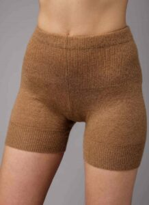 Brown Camel Woolen Women's Short