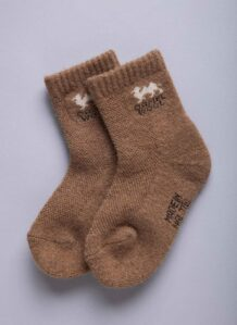 Brown Camel Woolen Socks