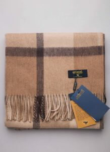 Brown Sheep Woolen Scarf With Pattern(1)