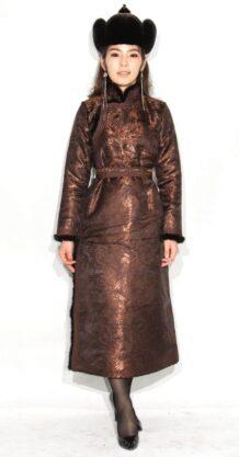 Women's Brown Deel with Sable Fur