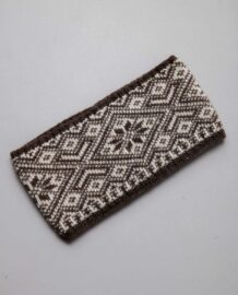 Brown Woolen Bandage With Pattern
