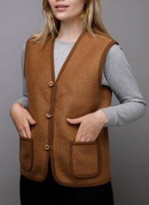 Brown Woolen Women's Vest 2