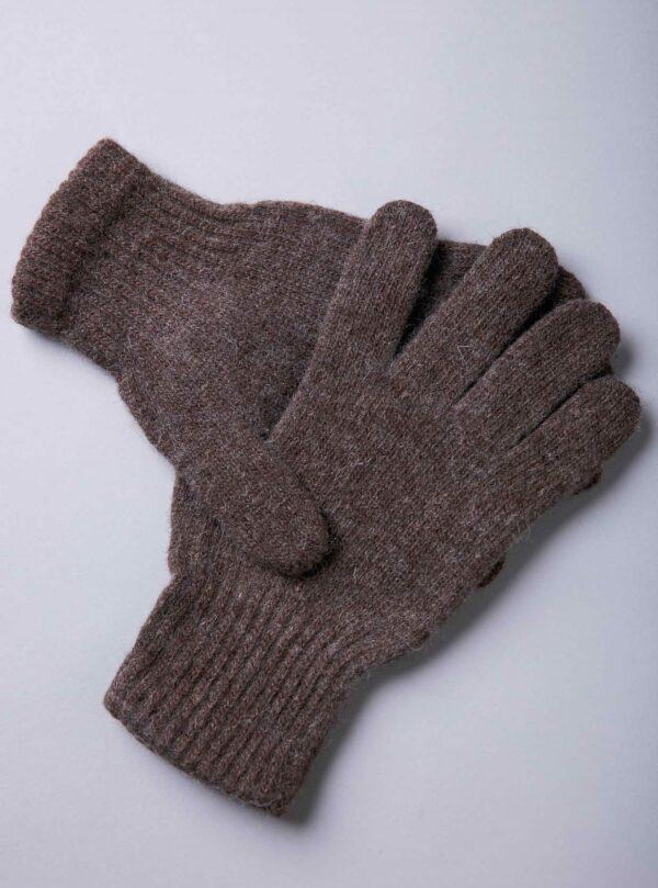Brown Yak Woolen Gloves