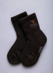 Children's Dark Brown Yak Woolen Socks