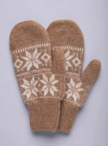 Cream Camel Woolen Children's Mitten