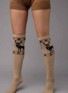 Cream Camel Woolen Socks