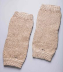 Cream Long Woolen Knee Pads