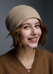 Cream Woolen Women's Hat