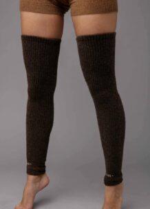 Dark Brown Camel Woolen Gaiters