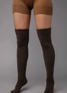 Dark Brown Camel Woolen Socks