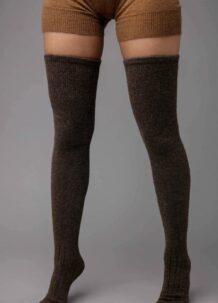 Dark Brown Camel Woolen Stocking