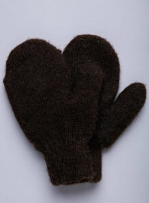 Dark Brown Yak Woolen Children's Mitten