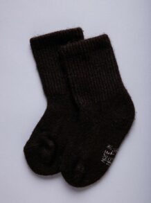Dark Brown Yak Woolen Children's Socks