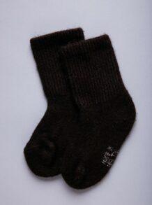 Dark Brown Yak Woolen Children's Socks