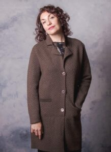 Dark Brown Yak Woolen Women's Coat